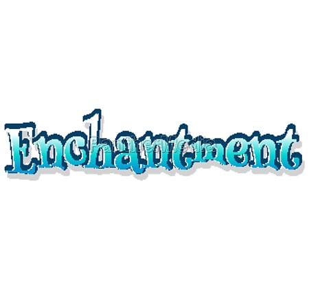 font design for word enchantment in