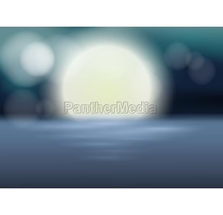 a blur ocean backgroud at night