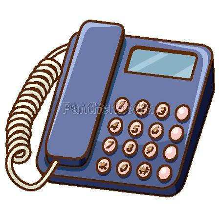 old fashioned telephone on white background