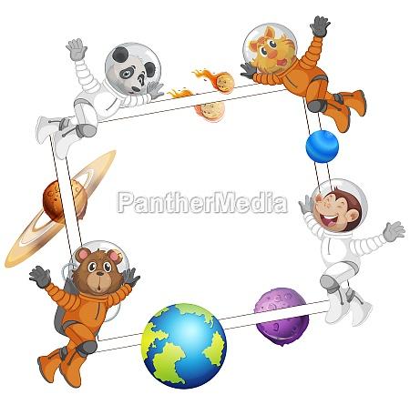 animal on space frame