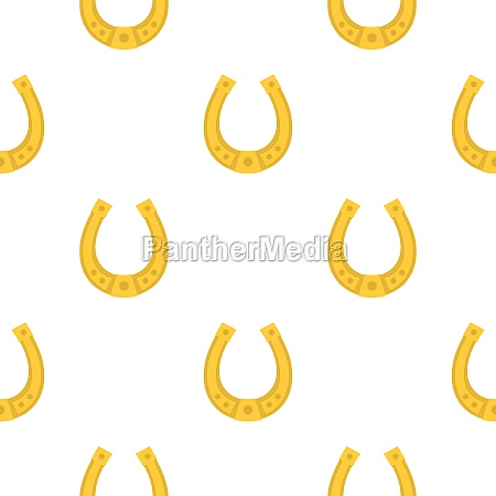 golden horseshoe pattern seamless