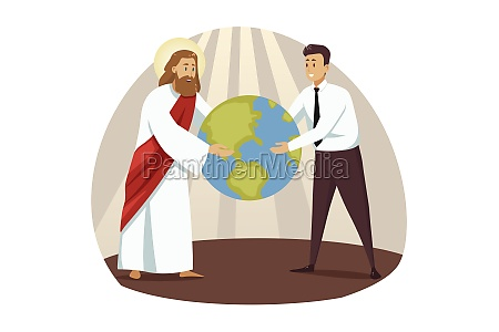 religion christianity business support success concept
