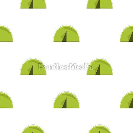 green touristic camping tent pattern flat