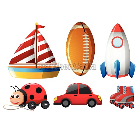 six types of childhood toys