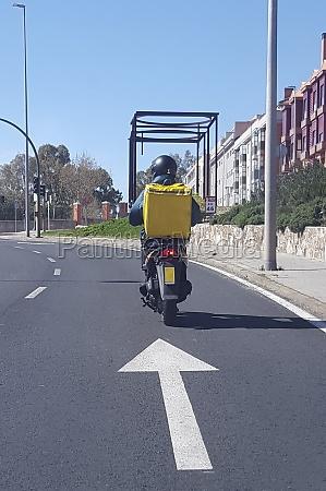 food delivery motorbiker