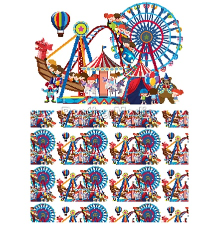 seamless background design with children at