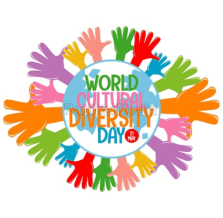 world cultural diversity day logo or
