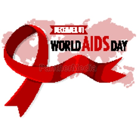 world aids day logo or banner