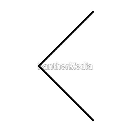 left arrow symbol icon vector for