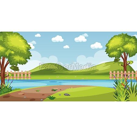 horizon nature scene or landscape countryside