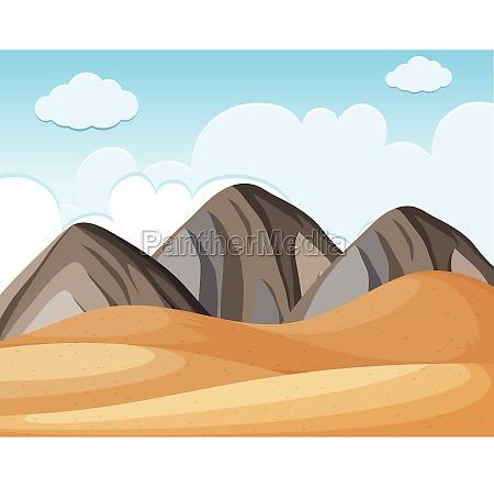 desert ground and blue sky