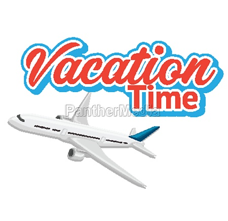 font design for word vacation time
