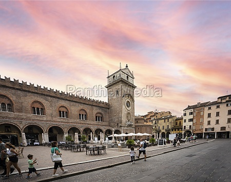 the clock tower in mantua italy
