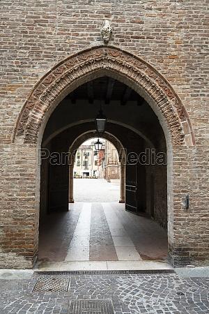 the historic center in mantua italy
