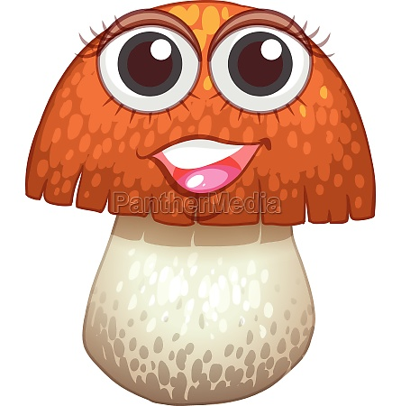 mushroom with happy face