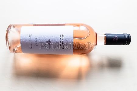 bottle of pinot noir rose wine