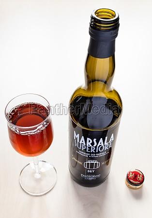 open bottle of superior marsala from