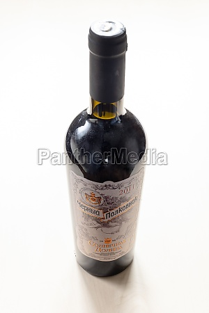bottle, of, crimean, sweet, wine, black - 30527730