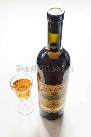 wine, glass, and, bottle, with, aged - 30527734