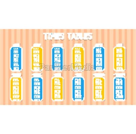 times tables template on abstract wall