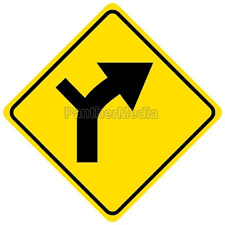 horizontal alignment sign on white background