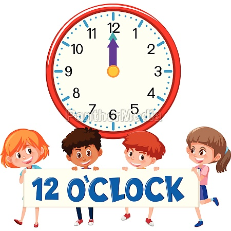 children and time 12 oclock