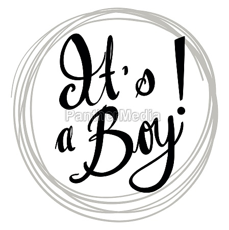 doodle phrase for its a boy