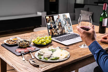 digital wine tasting virtual dinner event