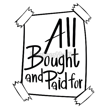 word expression for all bought and