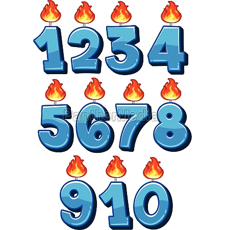 a set of candle numbers