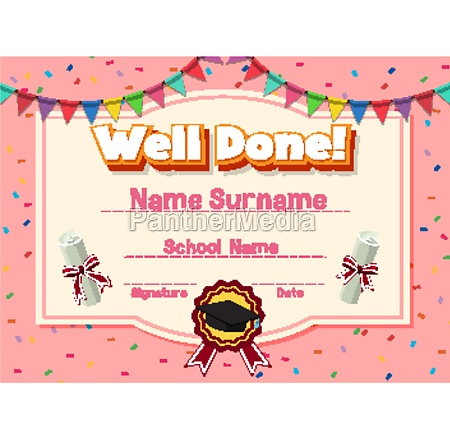 certificate template for well done with