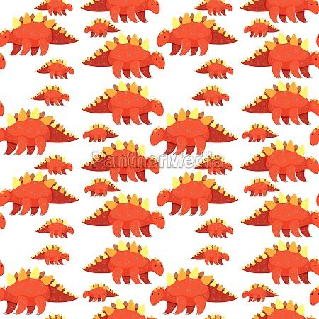 cute dinosaur seamless background