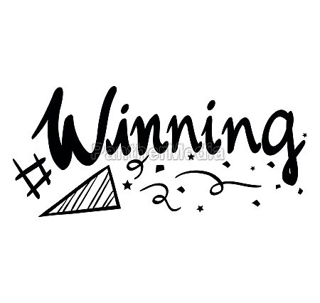 word expression for winning