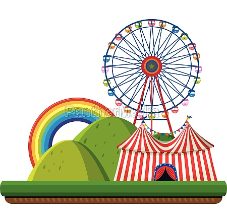 a circus in nature template