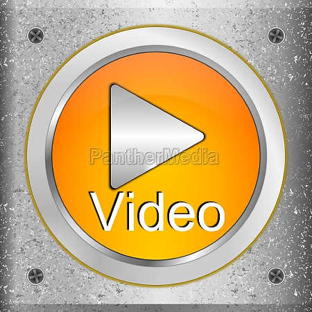 play video button orange on a