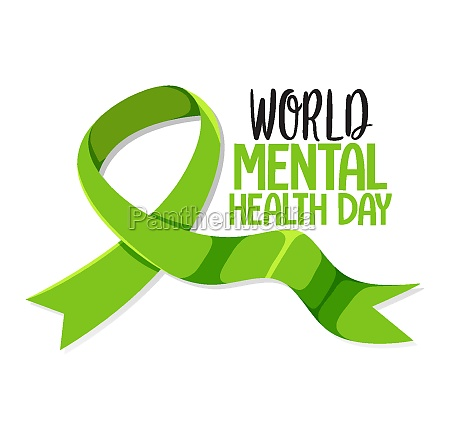 world mental health day banner or
