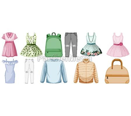 set of clothes mock up