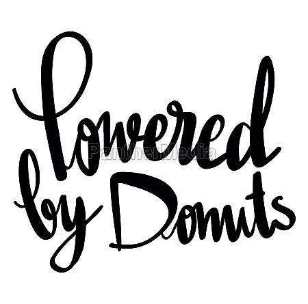 word expression for powered by donuts