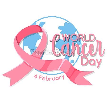 world cancer day logo or banner
