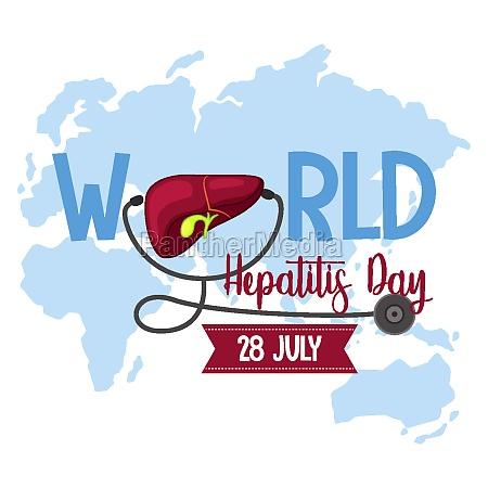 world hepatitis day logo or banner
