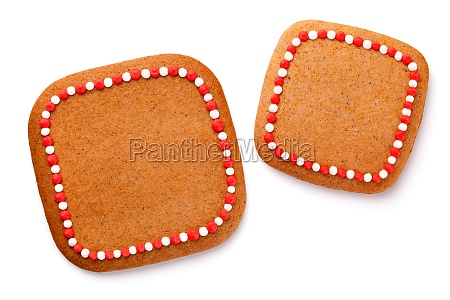 gingerbread cookie shape of square white