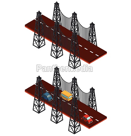bridge construction with and without cars