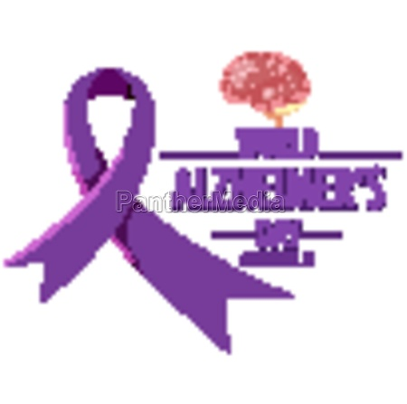 world alzheimers day logo or banner