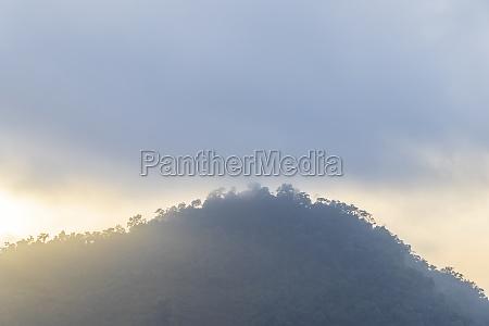 beautiful sunrise over the mountains angra