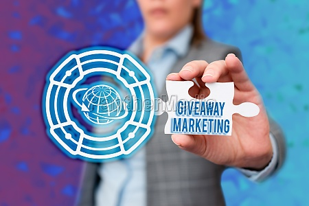 handwriting text giveaway marketing business overview