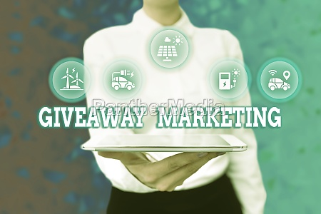 text caption presenting giveaway marketing business