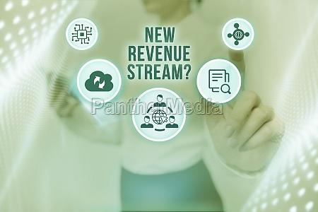 conceptual display new revenue stream question