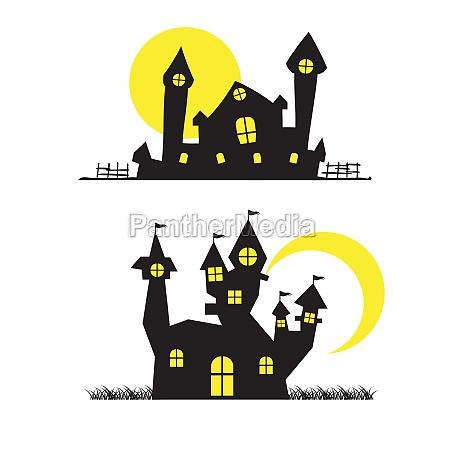 house halloween background vector illustration