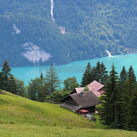 turquoise lake brienz and giessbach falls