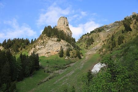roriwanghorn mountain peak near interlaken switzerland